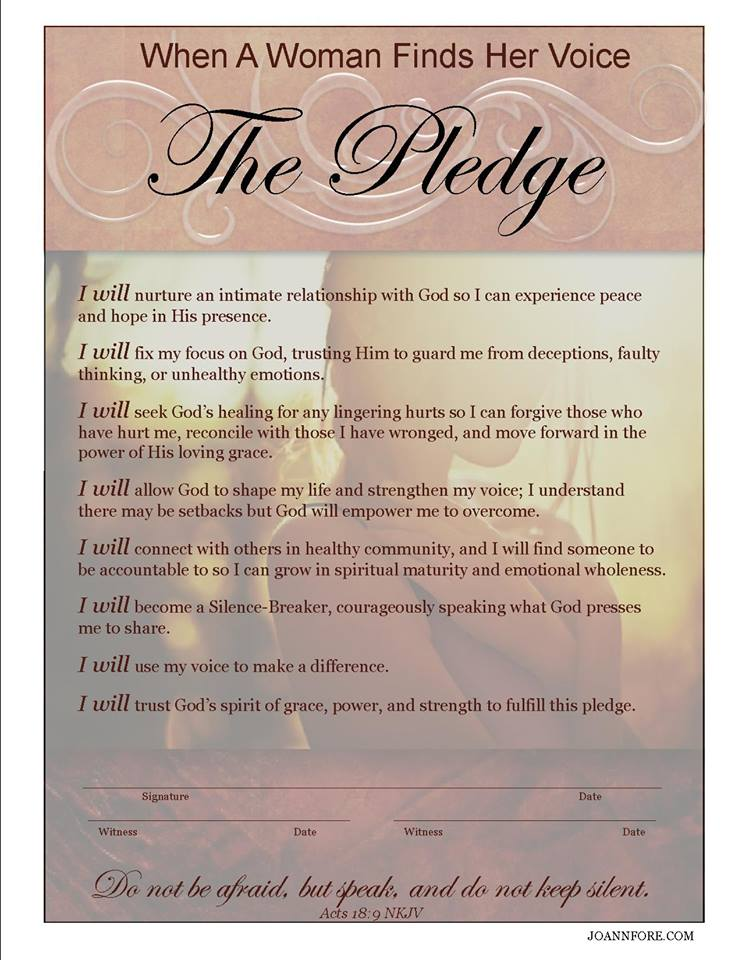 burgundy pledge – JO ANN FORE